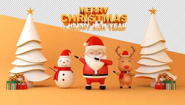 Merry christmas and happy new year card mockup