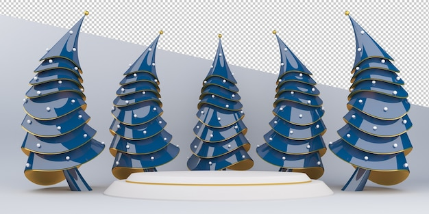 Merry christmas and happy new year, display 3d rendering