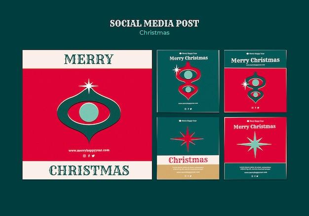 Набор сообщений instagram с рождеством