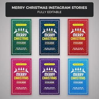 Merry christmas instagram stories banner design