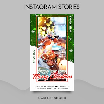 Merry christmas instagram stories template