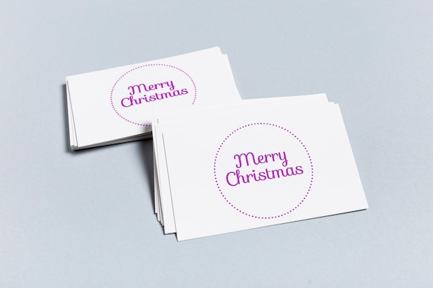 Merry christmas mock-up business card template