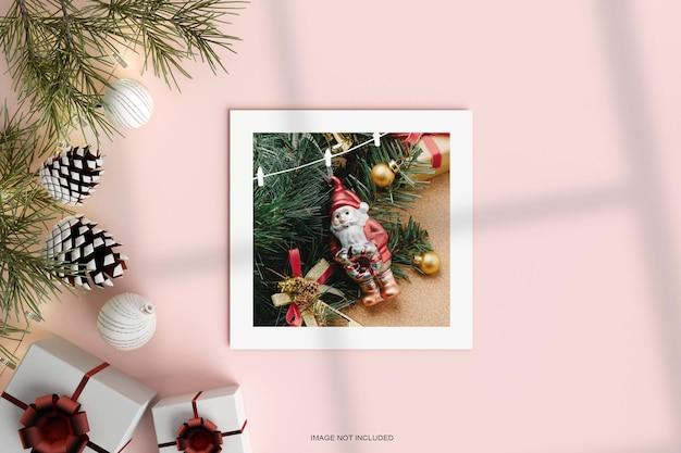 С рождеством христовым бумажная рамка для фото