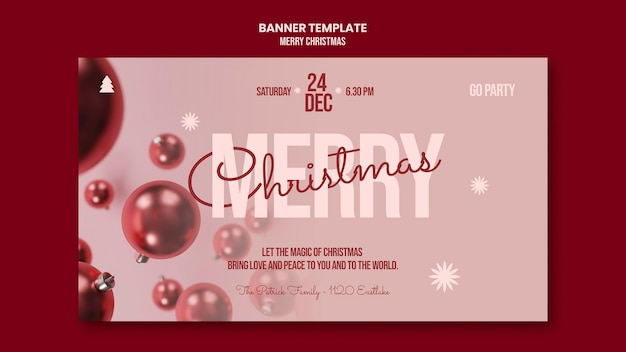 Merry christmas party banner