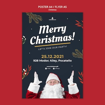 메리 크리스마스 포스터 템플릿