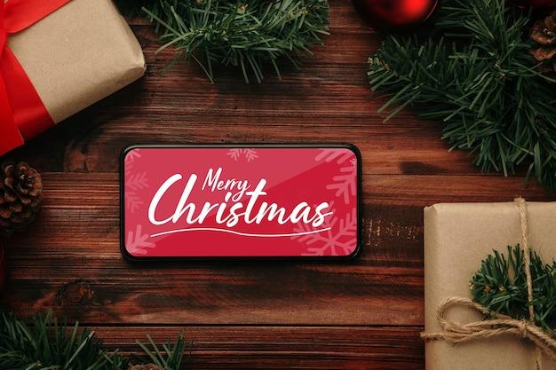 크리스마스 선물 장식 메리 크리스마스 스마트 폰 모형