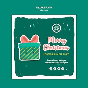 Рождественский квадратный флаер шаблон