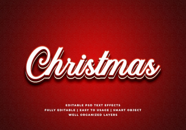 Merry christmas text style effect