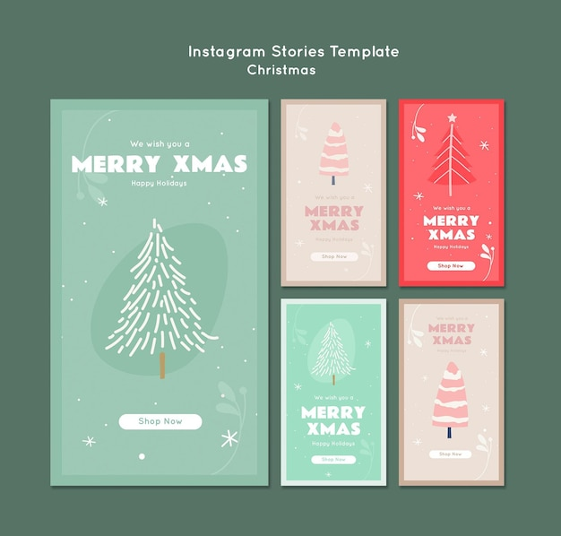 Merry xmas instagram stories template