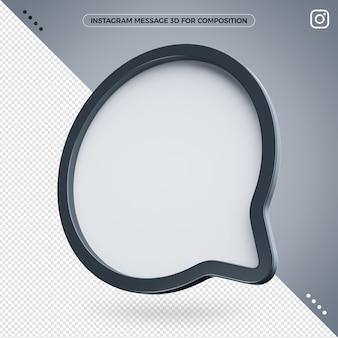 Сообщение instagram 3d значок для композитинга