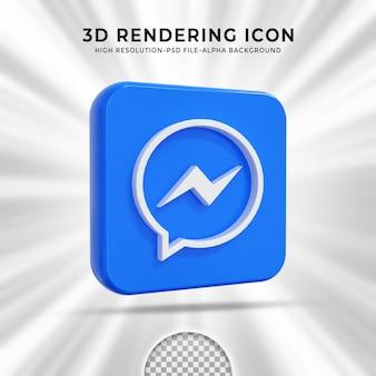 Messenger glossy logo and social media icons