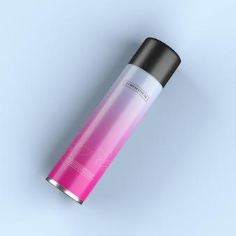 Металлическая бутылка дизайн макета изолированные