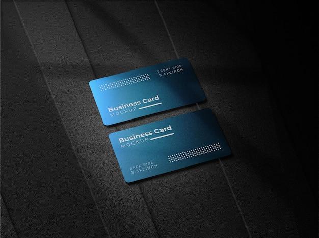 Daryの背景を持つ金属のbusnessカード