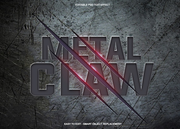 Metal claw text effect