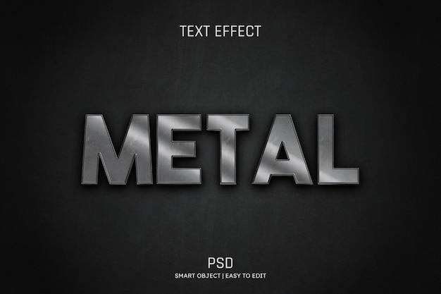 Metal editable text effect psd