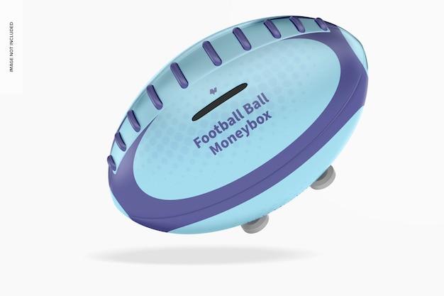 Металлический футбольный мяч копилка mockup