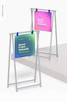 Металлический каркас тротуара знаки макет, вверх и вниз