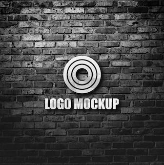 Металлический логотип макет