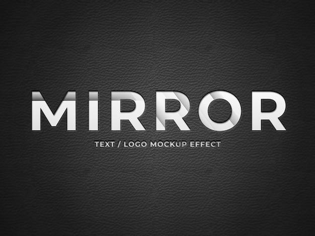 Металлическое зеркало дизайн логотипа рендеринга