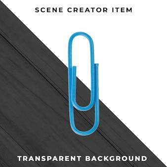 Metal paperclip object transparent psd