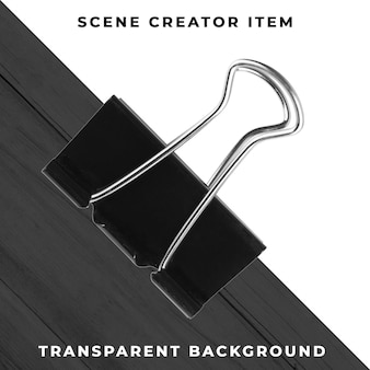 Metal paperclip object transparent psd