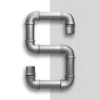 금속 파이프, 알파벳 s