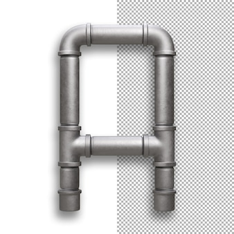 Metal pipe, alphabet a