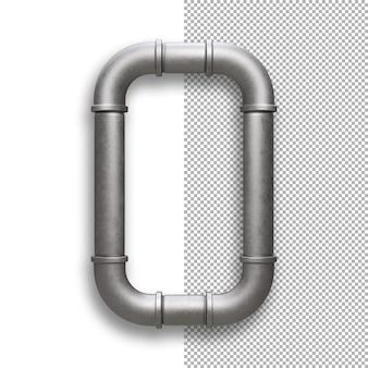 Metal pipe, number 0