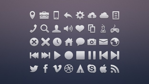 Metal social networking icons pack
