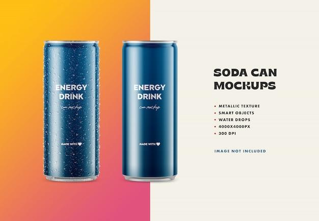 Metal soda can mockup