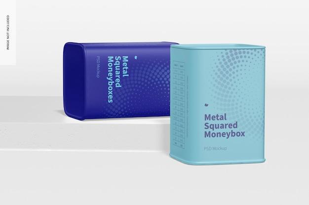 Металлический квадратный макет копилки