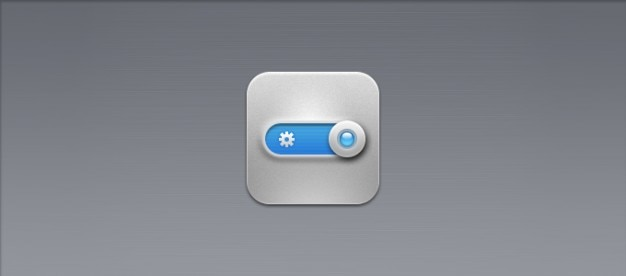 Metal switch button icon psd