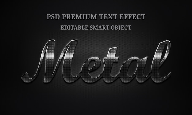 Metal text effect design