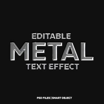 Металлический текстовый эффект шрифт макет 3d