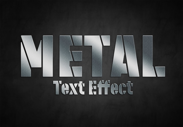 Metal text effect style