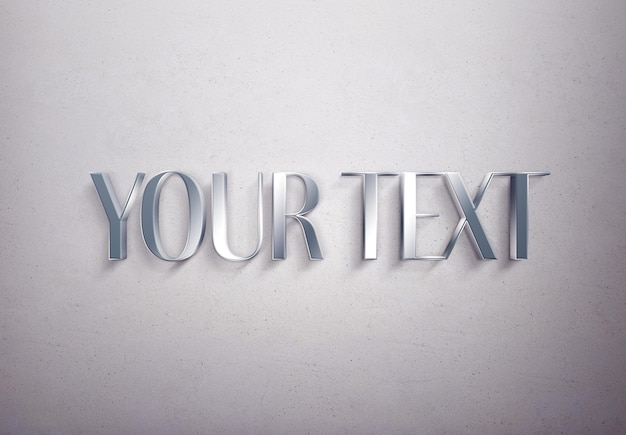 Metal text effect template