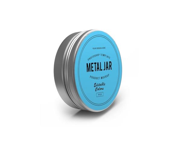 금속 주석 항아리 3d 모형 디자인 3d 렌더링