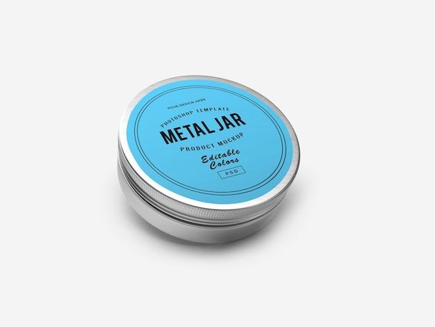 3d-макет металлической жестяной банки в 3d-рендеринге