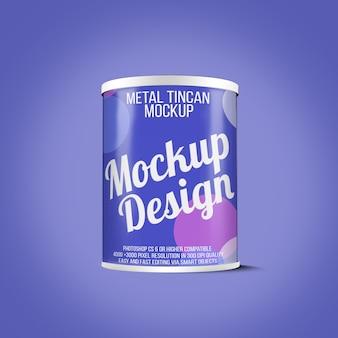 Metal tincan mockup