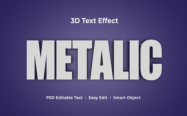Металлический 3d текстовый эффект шаблон макета