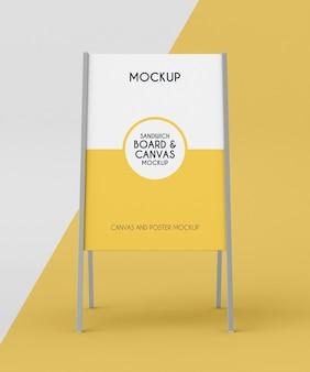 Metallic board mock-up