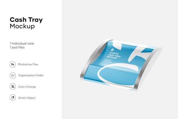 Metallic cash tray mockup