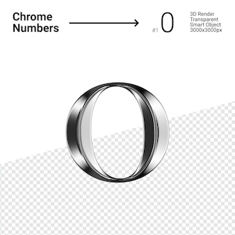Metallic chrome number 0 zero isolated