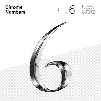 Металлический хром номер 6 шесть изолированных