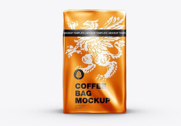 금속 커피 가방 목업