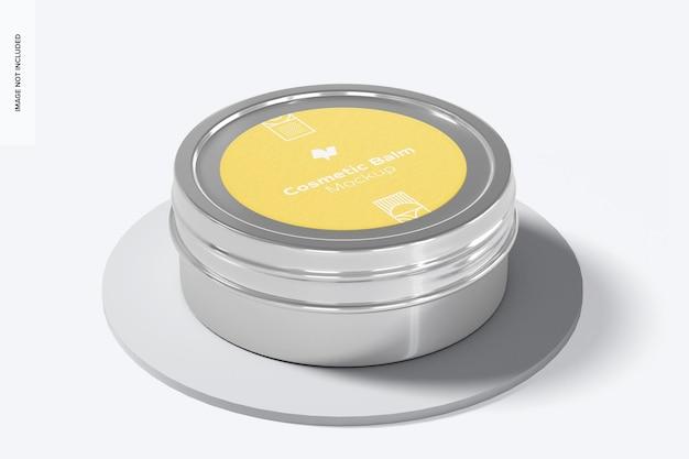 Мокап упаковки металлического косметического бальзама