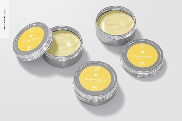 Металлический косметический бальзам, макет упаковки