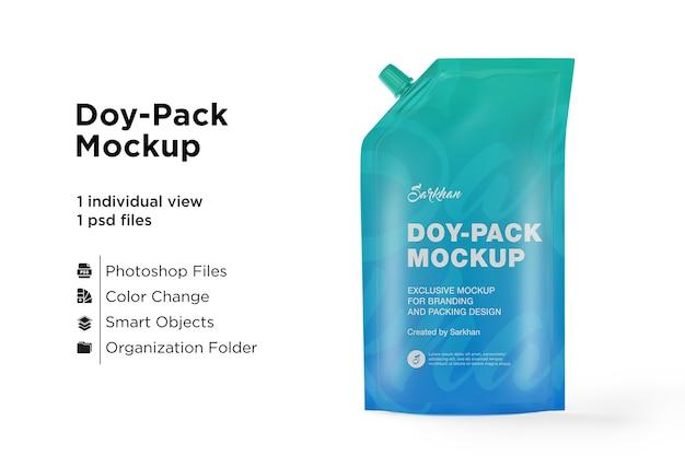 Metallic doypack mockup front view