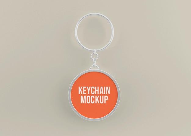Metallic key chain mockup for key accessory