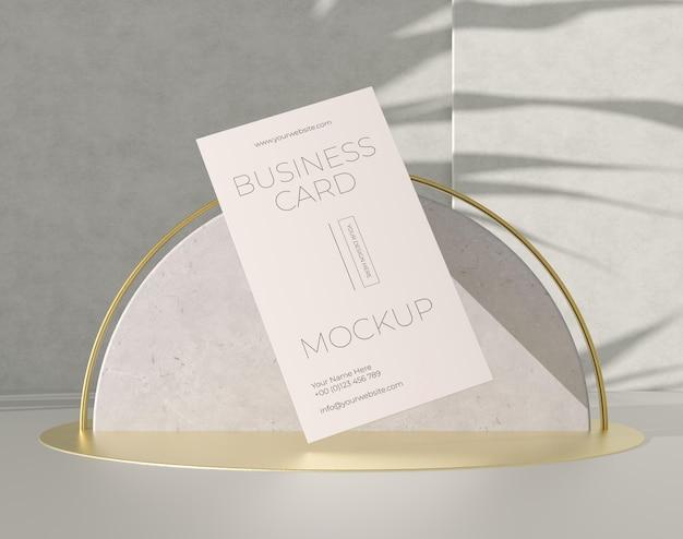Metallic levitating copper business card mock-up